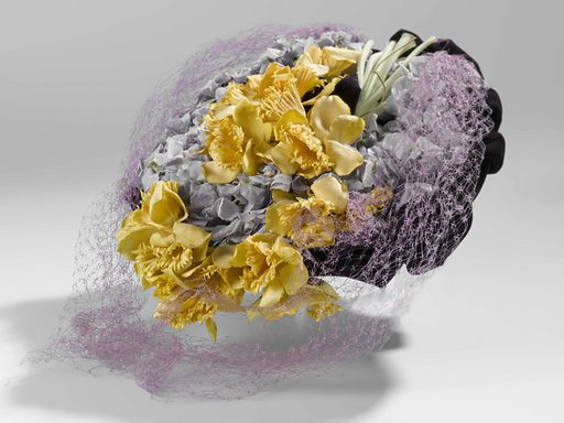 Large Beret with Daffodils and Violets