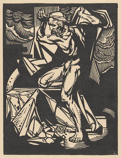 Samson destroys the pillars of the temple