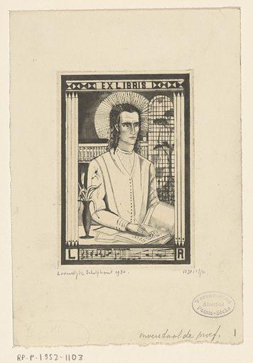 Ex libris van L Ramondt. Date: 1930. Object ID: RP-P-1952-1103.