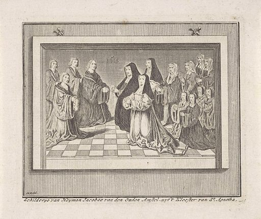 Male and female clergy. Origin: Northern Netherlands. Date: 1729. Object ID: RP-P-1905-2922.