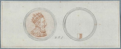 Front and back of a medal with a portrait of Henry II, on the occasion of the siege of Metz. Date: 1683 – 1733. Object ID: RP-T-1951-116.