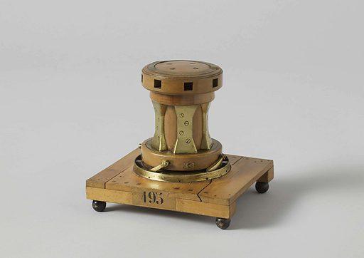 Model of a Capstan. Origin: Flushing. Date: c 1850. Object ID: NG-MC-195.