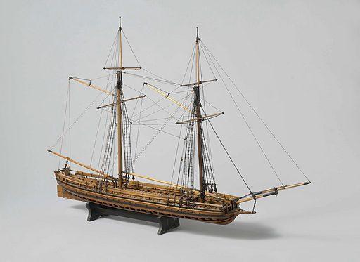 Model of a War Galley. Origin: ? Amsterdam. Date: c 1795 – c 1813. Object ID: NG-MC-668.