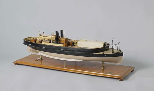 Model of a Gunboat. Date: c 1870 – c 1871. Object ID: NG-MC-1276.