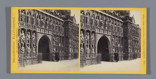 Western portal of Exeter Cathedral. Date: c 1850 – c 1880. Object ID: RP-F-F04620.
