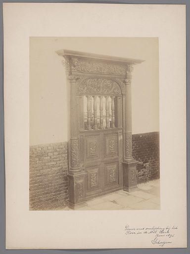 Door with frame in the Dutch Reformed Church in Schagen. Origin: Schagen. Date: 1895. Object ID: RP-F-00-2217.