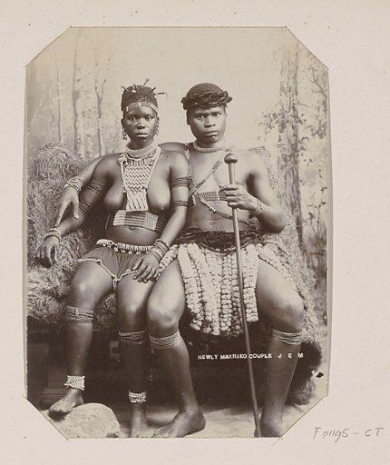 Newly married Zulu couple