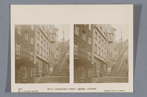 Rue du Petit Champlain, Québec. Origin: Québec. Date: 1924 – 1926. Object ID: RP-F-F11410-I.