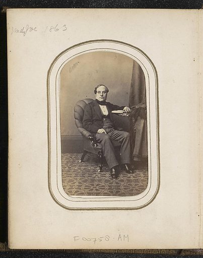 Portrait of a Seated Man with a Book Referred to as Uncle Joe. Origin: London. Date: 1863. Object ID: RP-F-F00758-AM.