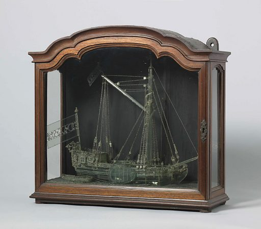 Glass model of a Yacht. Origin: Rotterdam. Date: 1760. Object ID: NG-NM-290.