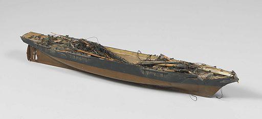 Model of a Screw Steamer. Origin: Netherlands. Date: c 1850 – c 1870. Object ID: NG-NM-4162.