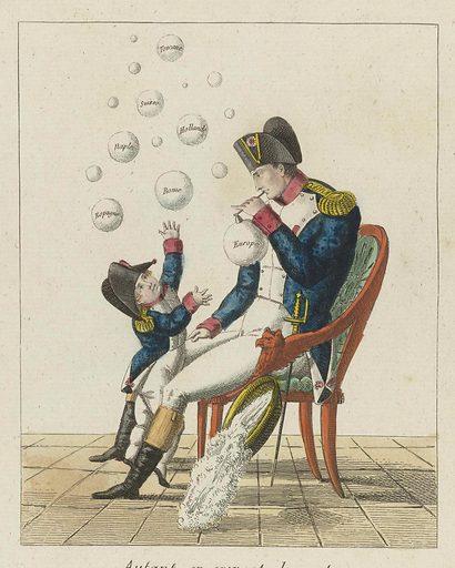 Napoleon Blowing Bubbles, 1813