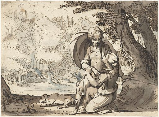 Venus and Adonis in conversation. Date: 1616. Object ID: RP-T-1887-A-852.