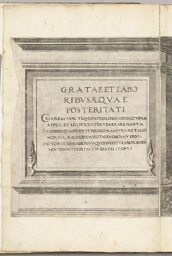 Title print for the series Procession of Charles V with the Pope at Bologna after his coronation to Emperor, 1530, plate A. Date: 1530 – 1536. Object ID: RP-P-OB-78.624-1.