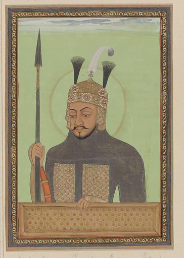 Portrait of Timur, also known as Tamerlan. Date: c 1686. Object ID: RP-T-00-3186-1B.