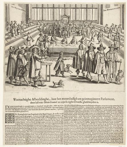 Oliver Cromwell sends parliament away, 1653