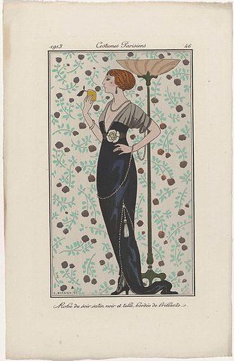 Journal des Dames et des Modes, Costumes Parisiens, 1913, No 46: Robe du soir. .