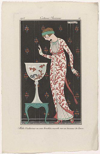 Journal des Dames et des Modes, Costumes Parisiens, 1913, No 61: Robe d'intérieur (…).