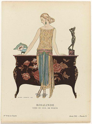 Gazette du Bon Ton, 1922, No 10. 75: Rosalinde. / Robe du soir, the Worth.
