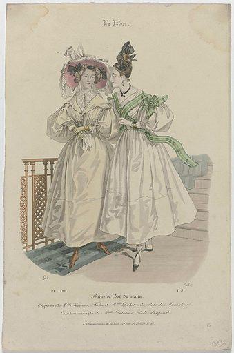 La Mode, 1830, Pl. 53, T3: Toilette de Bal du matin (…). Origin: Paris. Date: 1830. Object ID: RP-P-2009-3017.