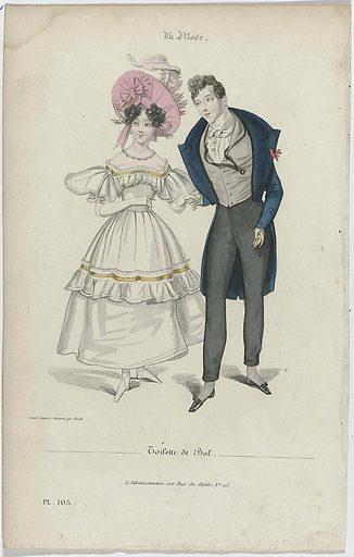 La Mode, 1830, Pl. 105: Toilette de Bal. Origin: Paris. Date: 1830. Object ID: RP-P-2009-3027.