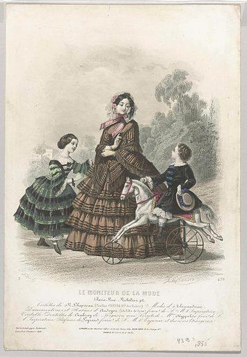 Le Moniteur de la mode, 1855, No 439: Toilettes de RLhopiteau. Origin: Paris. Date: 1855. Object ID: RP-P-2009-3388.