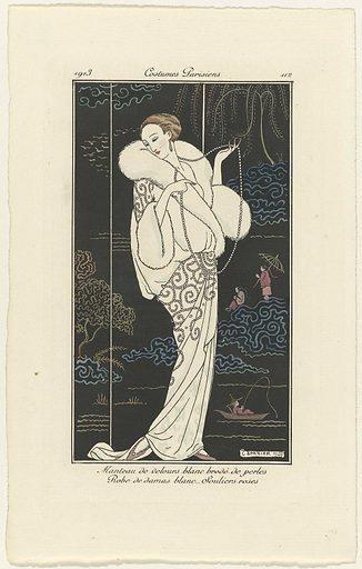 Journal des Dames et des Modes, Costumes Parisiens, 1913, No 112: Manteau de velours (…). Origin: Paris. Date: 1913. Object ID: RP-P-2009-3941.