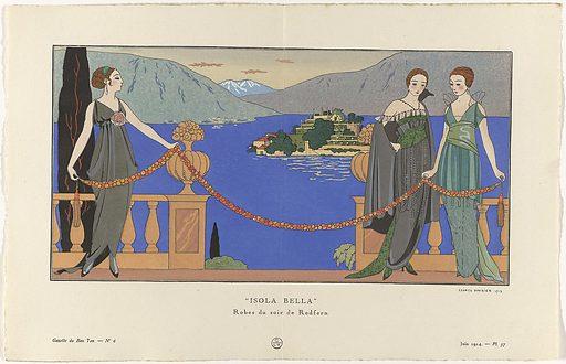 "Gazette du Bon Ton, 1914 – No 6. 57: ""Isola Bella"" / Robes du soir de Redfern."