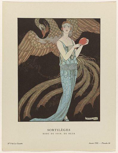 Gazette du Bon Ton, 1922 – No 9: Sortilèges / Robe du soir, the Bear.