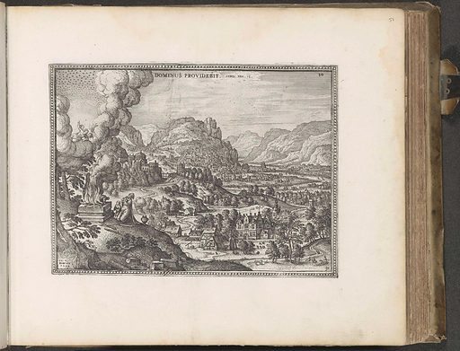 Landscape with the offering of the ram by Abraham and Isaac. Origin: Amsterdam. Date: 1653 – 1654. Object ID: RP-P-2015-10-51.