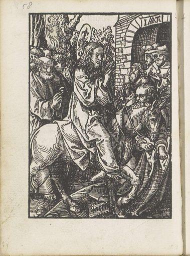 Entry into Jerusalem. Origin: Amsterdam. Date: 1523. Object ID: BI-1894-3729-13.