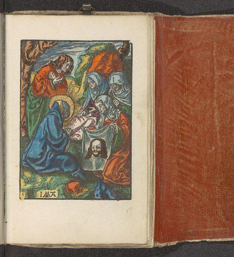 Veronica shows the sudarium to Maria and Johannes. Origin: Amsterdam. Date: c 1530. Object ID: BI-1898-A-1742-59.
