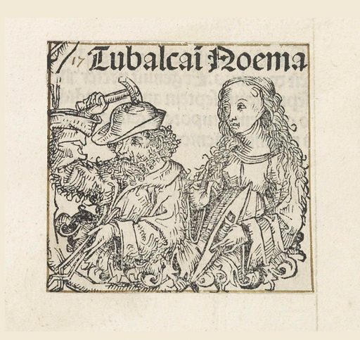 Tubal-Cain and his sister Naama. Date: 1493. Object ID: RP-P-2016-49-8-5.