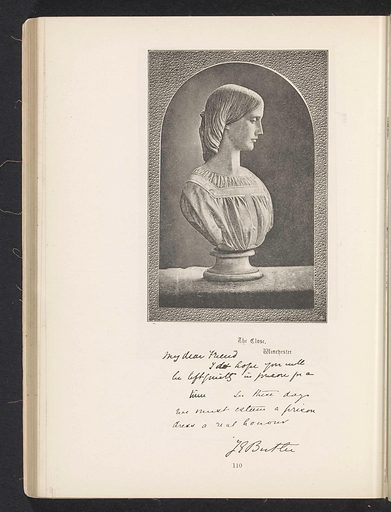 Bust of Josephine Butler. Date: c 1881 – in or before 1891. Object ID: RP-F-2001-7-67-91.