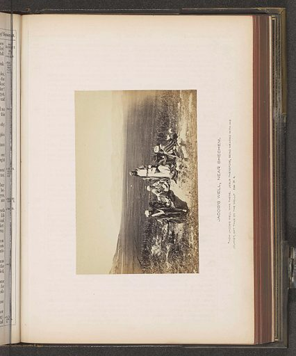 View of a landscape with seven men, referred to as Jacob's Well. Date: c 1850 – c 1865. Object ID: RP-F-2001-7-38-21.