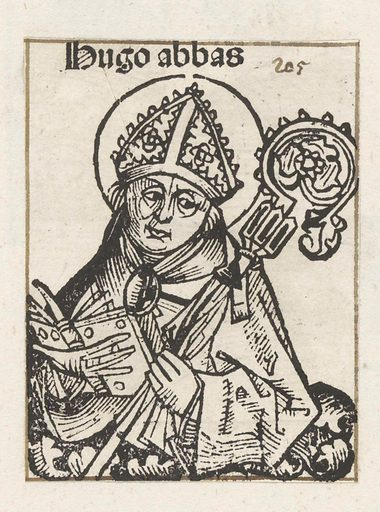 Abbot Hugo of Cluny. Date: 1493. Object ID: RP-P-2016-49-89-5.