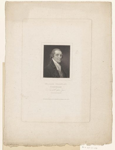Portrait of William Charnley, bookseller in Newcastle upon Tyne. Date: 1817. Object ID: RP-P-2015-26-1133.