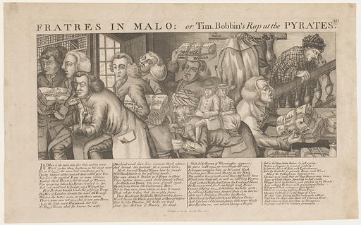 Bookstores rob John Collier. Date: 1773. Object ID: RP-P-2015-26-1452.