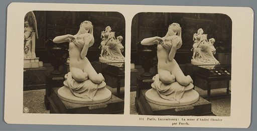 Sculpture by Denys Puech in the Musée du Luxembourg in Paris, depicting André Chenier's muse. Date: in or after 1895 – c 1905. Object ID: RP-F-00-8889.