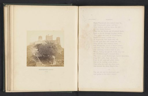 Bamborough Castle. Date: c 1861 – in or before 1866. Object ID: RP-F-2001-7-357-4.