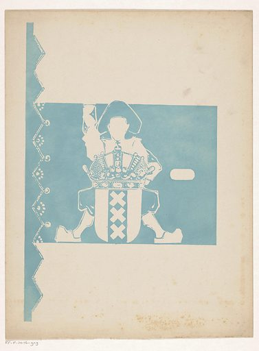 Band design for: Uncle Ben, Jan Klaassen, 1913. Date: in or before 1913. Object ID: RP-P-2016-919.