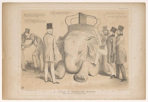Cartoon about the appointment of Henry Hardinge as governor of India. Origin: England. Date: 1844. Object ID: RP-P-2017-2256-28.