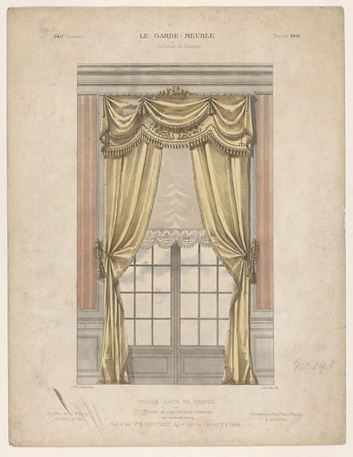 Window with curtains. Origin: Paris. Date: 1895 – c 1910. Object ID: RP-P-2017-9001.