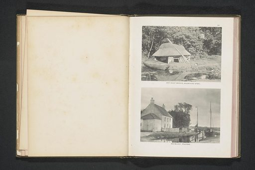 View of a boathouse near Salhouse. Date: c 1886 – in or before 1891. Object ID: RP-F-2001-7-1162-42.