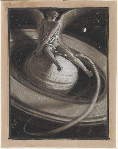 (Illustration for Rubáiyát of Omar Khayyám) The Throne of Saturn. Date: 1880s. Record ID: saam_1978.108.21.