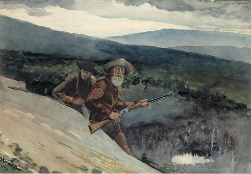 Bear Hunting, Prospect Rock. Date: 1890s. Record ID: saam_1929.6.66.