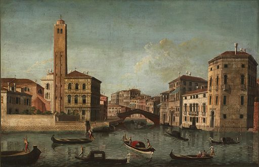 Scene on the Grand Canal, Venice. Date: 1700s. Record ID: saam_1956.11.66.