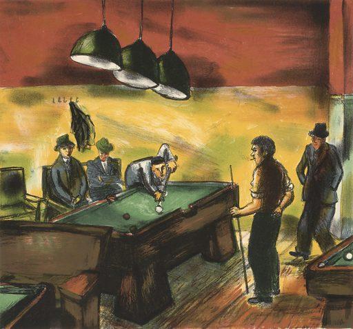 (Untitled) (Men Playing Billiards)