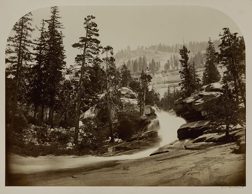 Cascade, Nevada Falls, Yosemite, California. Date: 1860s. Record ID: saam_1994.91.276.