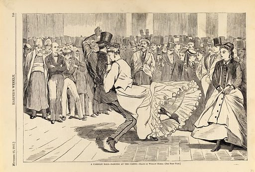 A Parisian Ball--Dancing at the Casino, from Harper's Weekly, November 23, 1867. Date: 1860s. Record ID: saam_1996.63.63.